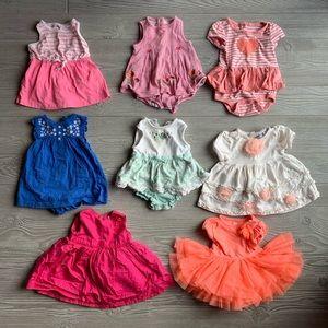 6 Dress Bundle 0-3 Month